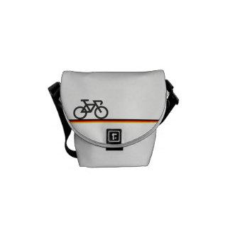 Sacoche Vélo avec les lignes de drapeau Allemand-inspirées