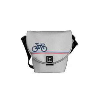 Sacoche Vélo avec les lignes de drapeau Français-inspirées
