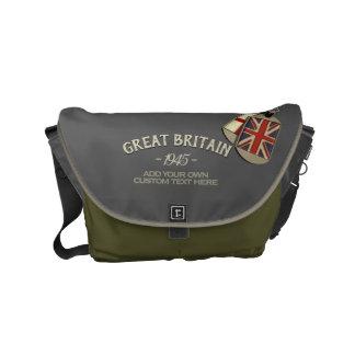 Sacoches Étiquettes de chien britanniques de style vintage
