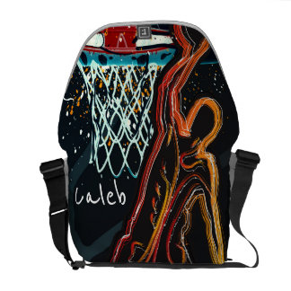 Sacoches Le basket-ball orange noir trempent la coutume de