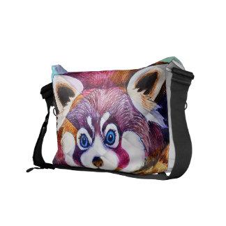 Sacoches Le panda rouge concernent le cubisme de turquoise