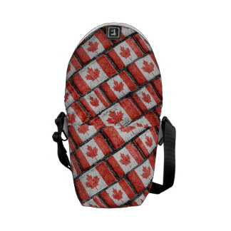 Sacoches Motif canadien de motif de drapeau