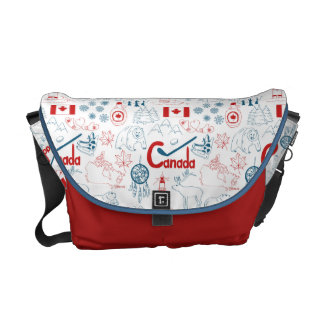 Sacoches Motif de symboles du Canada  