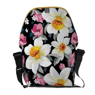 Sacoches Motif d'élégance avec des fleurs de narcisse