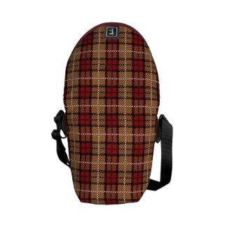 Sacoches Plaid de pixel en rouge et or