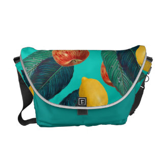 Sacoches pommes et citrons turquoises