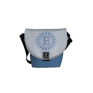 Sacoches Sac bleu de Mini-Messager de monogramme