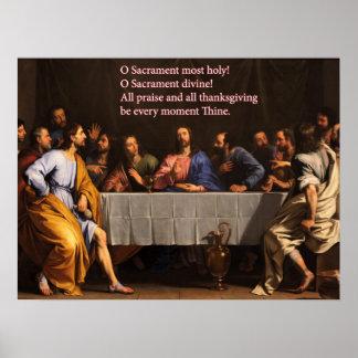 Sacrement d O la plupart d affiche sainte