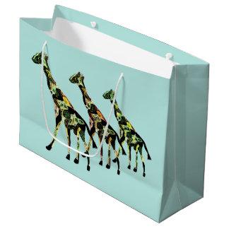 Sacs de cadeau de famille de girafe grand sac cadeau