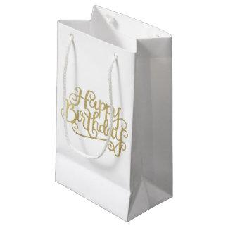 Sacs de cadeau de joyeux anniversaire d'or