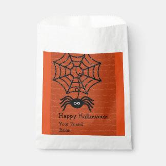 Sacs de faveur personnalisés par araignée heureuse