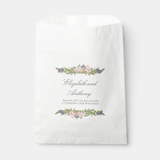 Sacs élégants de faveur de mariage de magnolia