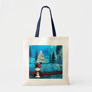 Sacs folkloriques de cadeau de Noël de lac winter