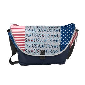 Sacs messenger de l'Amérique pour les Américains Sacoches