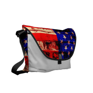 Sacs messenger vintages à drapeau américain sacoche