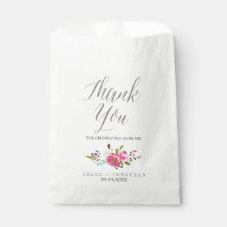 Sacs simples de faveur de mariage de bouquet