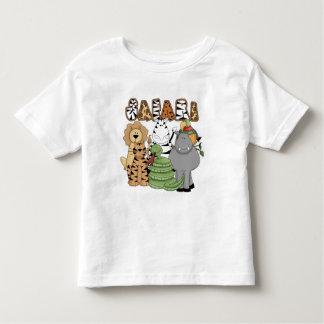 Safari animal t-shirt pour les tous petits