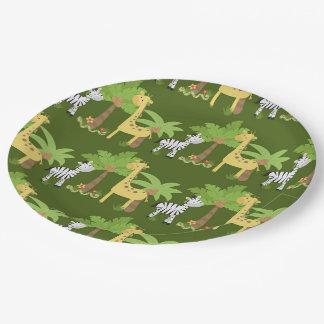 Safari Assiettes En Papier