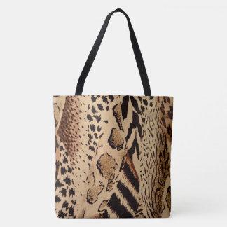 Safari Brown Tote Bag