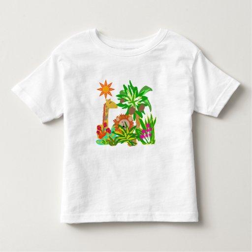 Safari de jungle t-shirt pour les tous petits