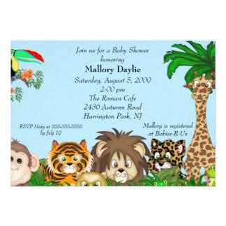 Safari mignon c est un baby shower de garçon de ju invitations personnalisées