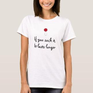 safetypop_red2, si vous le sucez, il dure plus t-shirt