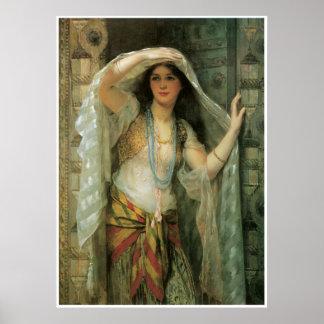 Safie, une des trois dames de Bagdad, 1900 Posters