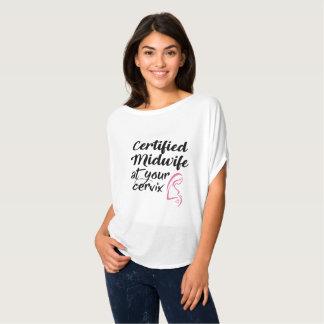 Sage-femme certifiée à votre T-shirt de cervix
