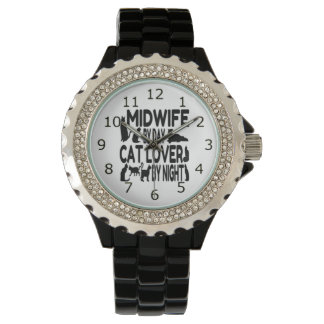 Sage-femme d'amoureux des chats montres bracelet