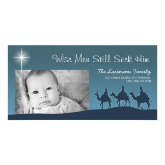 Sages - carte photo de vacances de Noël Photocarte Customisée