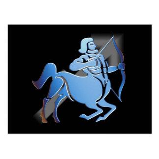 Sagittaire - carte postale de zodiaque de
