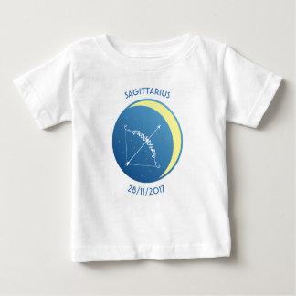 Sagittaire de T-shirt de bébé de signe d'étoile