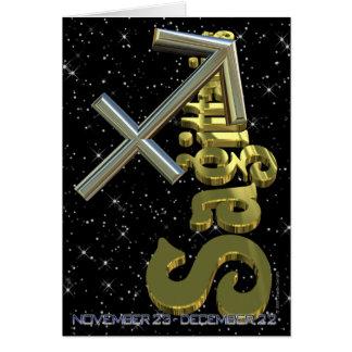 Sagittaire - du 23 novembre au 21 décembre carte de vœux