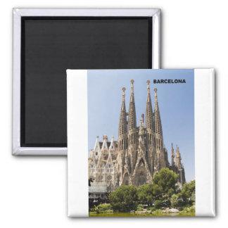 Sagrada Familia Barcelone Espagne Magnet Carré
