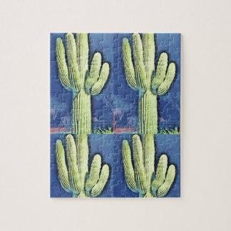 Saguaro dans le puzzle de bande dessinée