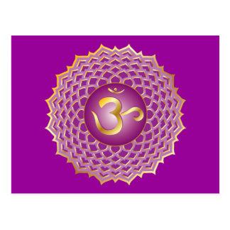 Sahasrara ou carte postale de chakra de couronne