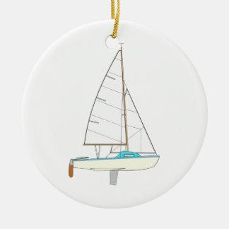 Sailing Boat - Voilier (05) Ornement Rond En Céramique