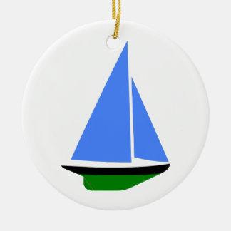 Sailing Boat - Voilier (09) Ornement Rond En Céramique