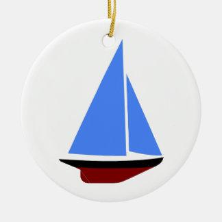 Sailing Boat - Voilier (10) Ornement Rond En Céramique