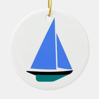 Sailing Boat - Voilier (11) Ornement Rond En Céramique