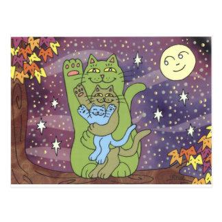 Sain, riche, et sage une nuit d'automne cartes postales