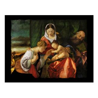 Saint Catherine et Mary de Jésus de bébé Carte Postale
