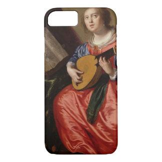 Saint Cecilia (huile sur la toile) Coque iPhone 7
