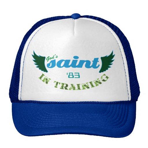 Saint dans le chapeau (bleu) de formation casquette