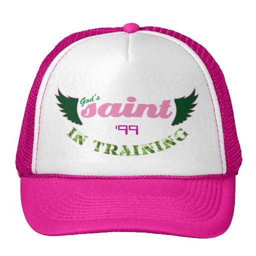 Saint dans le chapeau (rose) de formation casquettes