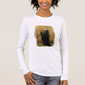 Saint féminin avec un mâle (huile sur le panneau) t-shirt à manches longues