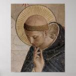 Saint Francis d'Assisi dans la contemplation Poster