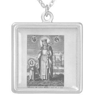 Saint Joan de la France et de Valois Pendentif Carré