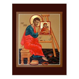 Saint Luc la carte de prière d'évangéliste