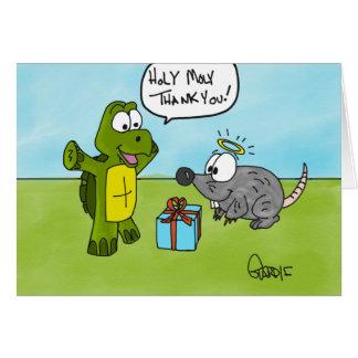 Saint moly ! Carte de remerciements